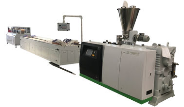 China High Precision WPC Extrusion Line Plastic Automatic 300 Series For Hollow Decking supplier