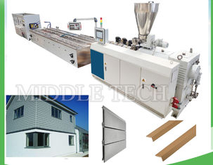 China Rapid Plastic WPC Extrusion Line 22KW Power For Wall Cladding Panel / Floor supplier