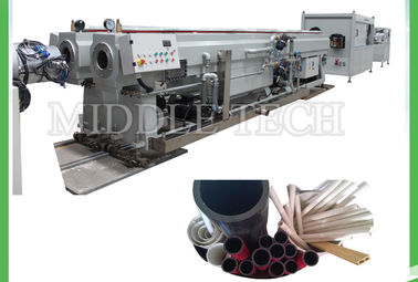 China Dual Cavity PVC Pipe Extrusion Line , Electric Conduit Screw Extruder Machine supplier