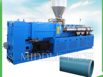 China Plastic SPVC Twin Screw Extruder Machine Counter Rotation Parallel MTE90 / 25 supplier