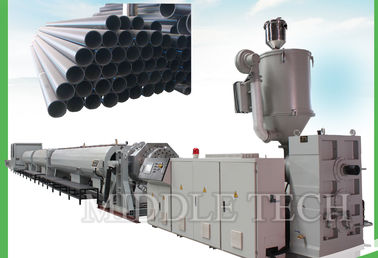China High Performance Plastic Pipe Extrusion Machine Rapid With One Srew Grey Color supplier