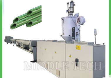 China PPR Plastic Tube Making Machine , 250Kg/Hr Capacity Recycled Plastic Extruder supplier