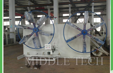 China Double Station Pvc Pipe Production Line , Flexible PE Plastic Extrusion Equipment supplier
