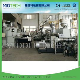 China Double Stage PVC Pelletizing Machine , Hot Cutting Granulator Screw Making Machine supplier