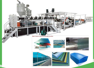 China Transparent Plastic PET Sheet Extrusion Line For Sheet / Board 1220mm Width supplier