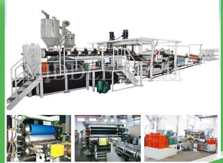 China Multi Layer PP Hollow Sheet Extrusion Line , Cast Extrusion Line Thickness 0.3 - 20mm supplier