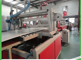 China Skinning PVC Sheet Manufacturing Machine , Fast  Sheet Extruder Machine 1220mm Width supplier