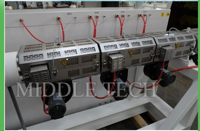 LDPE Irrigation Plastic Pipe Extrusion Machine 150Kg / Hr Capacity Grey Color