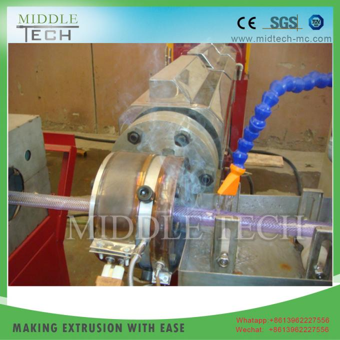 Speedy Plastic Pipe Extrusion Machine Energy Saving Constant Current High Output