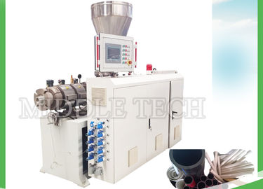 PVC / UPVC Concial Plastic Pipe Extrusion Machine 20 - 110mm Pipe Range
