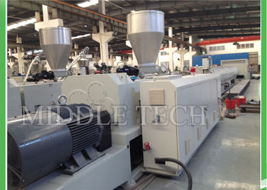 Automatic Conical Plastic Pipe Extrusion Machine 0.8 - 10 M / Min Hauling Speed